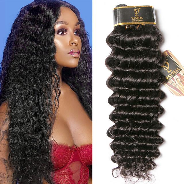 3 Paket Saç Örgüleri İri Dalgalı Peru Saçı Derin Dalga İnsan Saç Uzantıları % 100 Remy Saç Dokuma Paketleri İnsan saç örgüleri Tek Paket Çözüm Gerçek Saç Postişleri 8-28 inç Doğal Renk Kokusuz