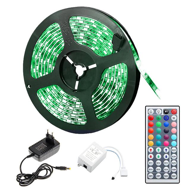 BRELONG® 5m bandes lumineuses LED Ruban LED Flexibles 300 LED 5050 SMD 10mm 1pc RGB Découpable Soirée Décorative 12 V  Auto-Adhésives