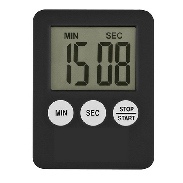 1 st super dunne lcd digitale scherm kookwekker vierkante koken count up countdown alarm magneet klok