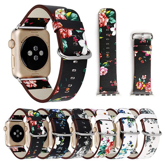 цветочные цветочные полосы для яблочных часов серии 5 4 3 2 1 38 / 40мм 42 / 44мм силиконовый ремешок с печатным рисунком для серии iwatch