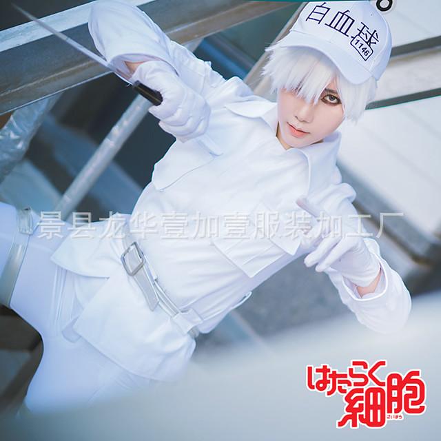 Zainspirowany przez Komórki w pracy Anime Kostiumy cosplay Japoński Garnitury cosplay Top Spodnie Rękawiczki Na Męskie / Kapelusz / Pasek taliowy