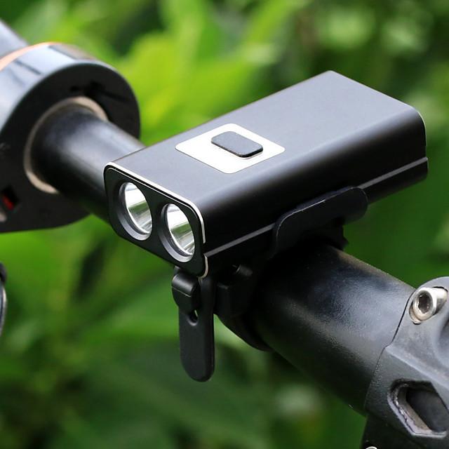 LED Luci bici Luce frontale per bici Fanale anteriore LED Bicicletta Ciclismo Uscita di ricarica USB Rilascio rapido Litio-polimero 600 lm Batteria ricaricabile Bianco Ciclismo / Lega d'alluminio