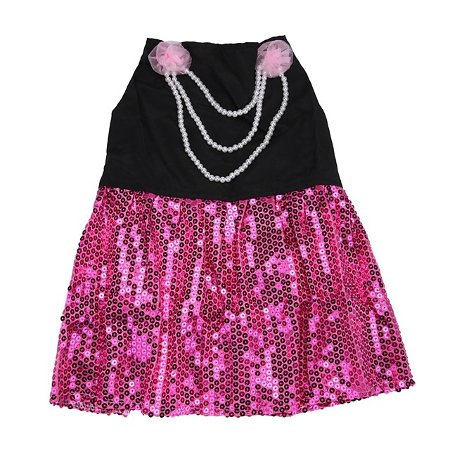 Собака Платья Цветочные ботанический Жемчуг Одежда для собак Одежда для щенков Одежда Для Собак Розовый Костюм для девочки и мальчика-собаки Хлопок XS S M L XL