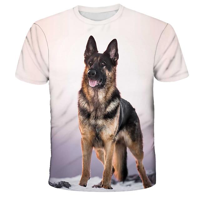 남성용 T 셔츠 셔츠 그래픽 프린트 짧은 소매 일상 탑스 스트리트 쉬크 과장된 라운드 넥 레인보우