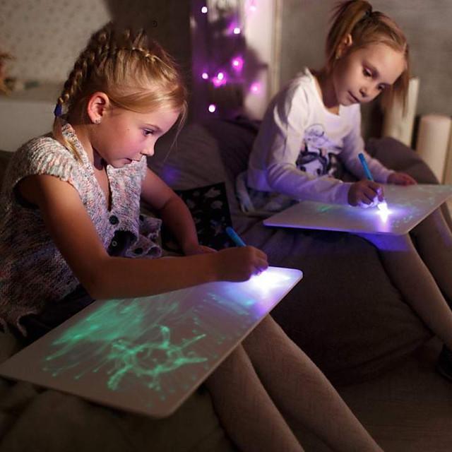 Jouet Educatif Tableau à feuilles mobiles pour le dessin Dessin avec lumière Plastique LCD Dessinez avec plaisir Enfant Garçons et filles pour des cadeaux d'anniversaire ou des cadeaux
