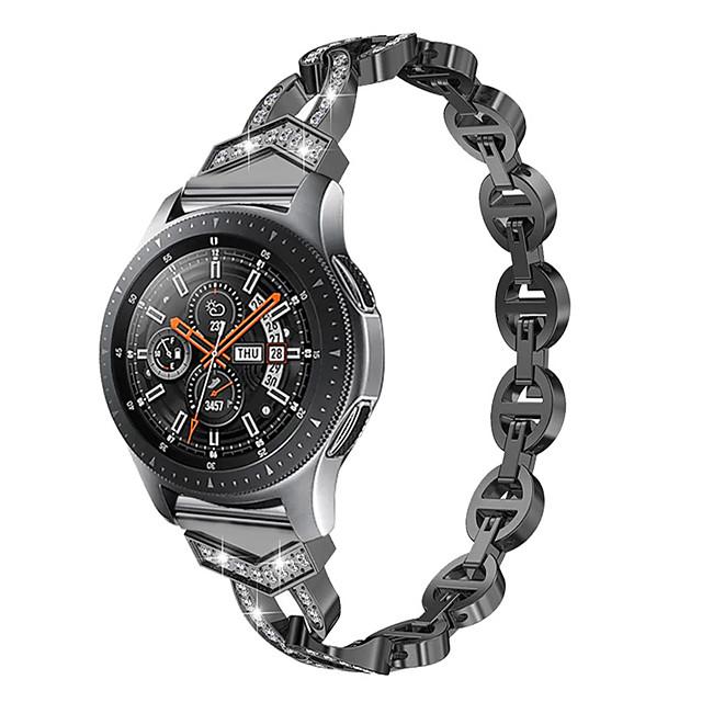 Ремешок для часов для Samsung Galaxy Watch Active 2 / Galaxy Watch 3 41мм Samsung Galaxy Классическая застежка / Дизайн украшения Нержавеющая сталь Повязка на запястье
