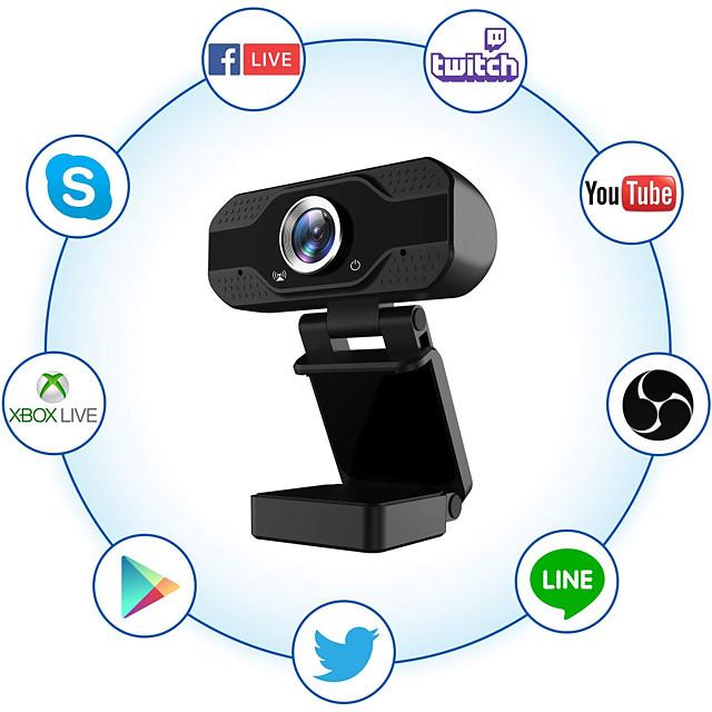 1080pフルHDウェブカメラ、マイク付きUSBウェブカメラストリーミングコンピューターカメラ、Windows PC用120度広角30 fps大型センサー、ビデオ通話会議ゲーム用の優れた低光