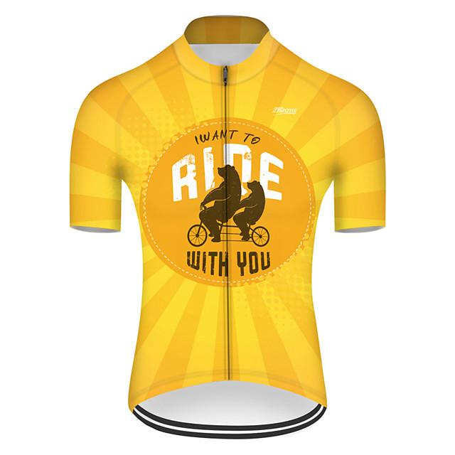 Mens Short Sleeve Cycling Jersey Breathable Quick Dry Summer MTB Bike Shirt