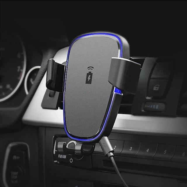 360 Grad Drehung Qi Auto Entlüftung Handy Ladegerät Halter schwarz abs Standhalterung für iPhone x