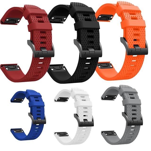 bande de montre intelligente pour garmin fenix 6s 6s pro 5s 5s plus bande de sport souple confortable silicone quickfit dragonne 20mm