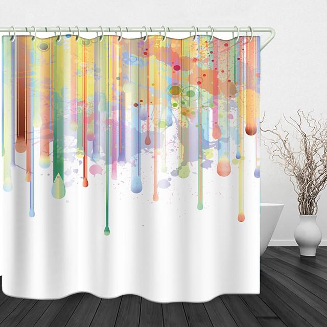 vopsea pictură creativă imprimare digitală țesătură impermeabilă perdea de duș pentru baie decor acasă acoperită perdele de cadă căptușeală include cu cârlige