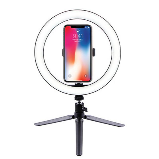 26 cm dimmable froid chaud led studio caméra anneau lumière photo téléphone vidéo lumière lampe avec trépieds bague table lumière de remplissage