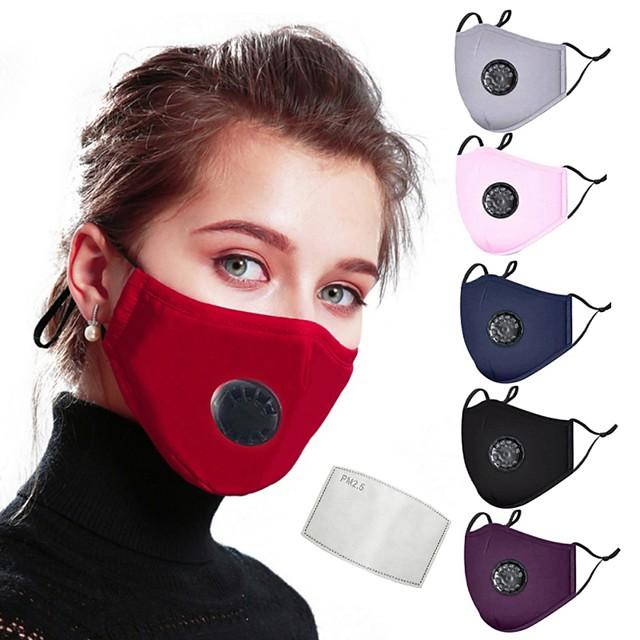 Antinebbia Anti-polvere Protezione Bicicletta / Ciclismo Rosso scuro blu navy Bianco per Per donna Per adulto Tinta unita / Maschera / Maschera