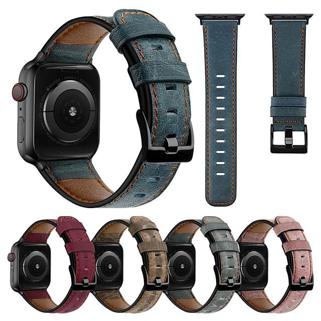 armbånd til apple watch serie 5/4/3/2/1 apple business band ægte læder armbånd