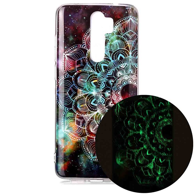 Xiaomi Redmi Note 7 Redmi Note 8 Redmi Note 8 Pro Glow in Dark / Pattern Back Cover 만다라 TPU 대 한 mi 10 mi 10 pro
