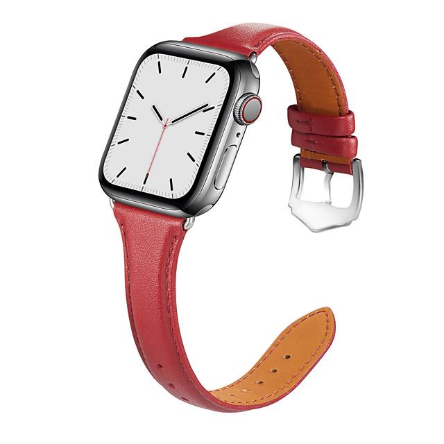 สายนาฬิกา สำหรับ Apple Watch Series 4 / Apple Watch Series 4/3/2/1 / Apple Watch Series 3 Apple กลุ่มธุรกิจ หนังแท้ สายห้อยข้อมือ