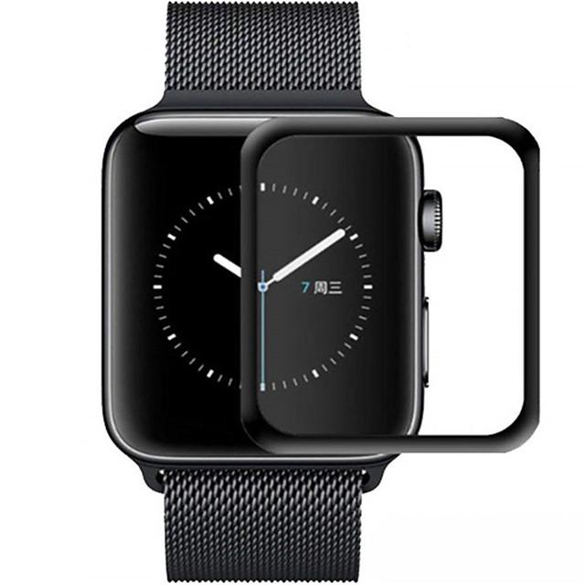 3D Gebogen Rand HD Gehard Glas Voor Apple Watch Serie 3 2 1 38mm 42mm Screen Protector Film voor iwatch 4/5 40mm 44mm Volledige Lijm