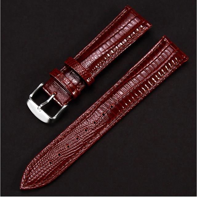 couro legítimo Pulseiras de Relógio Preta / Azul / Vermelho 20cm / 7.9 Polegadas 1.2cm / 0.47 Polegadas / 1.4cm / 0.55 Polegadas / 1.6cm / 0.6 Polegadas