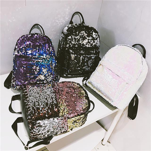 sirena reverzibilni šljokice 20l mini putna torba modni putni ruksak dizajn za ženski casual putni dar 28 * 11 * 37 cm