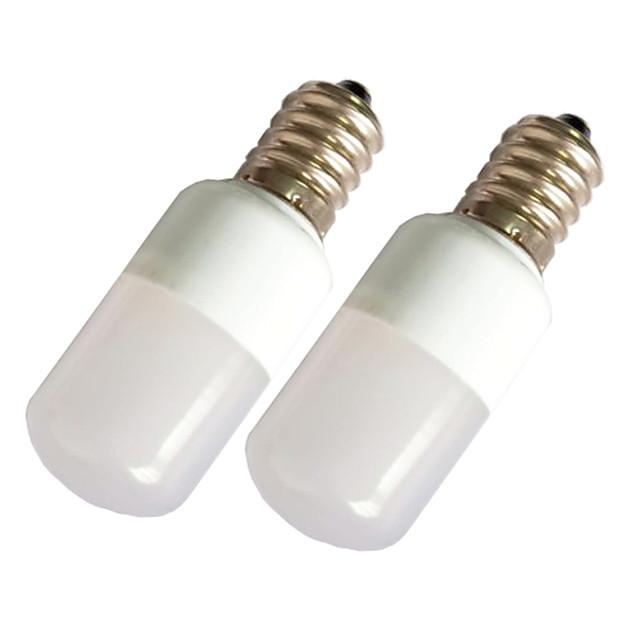2pcs 1.5 W LED Λάμπες Σφαίρα 90 lm E14 T22 9 LED χάντρες SMD 2835 Θερμό Λευκό Άσπρο 220-240 V