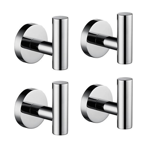 バスローブフック 新デザイン / 愛らしいです / 創造的 コンテンポラリー / 近代の 低炭素鋼 / ステンレス鋼 / 鉄 / メタル 4本 - 浴室 壁式