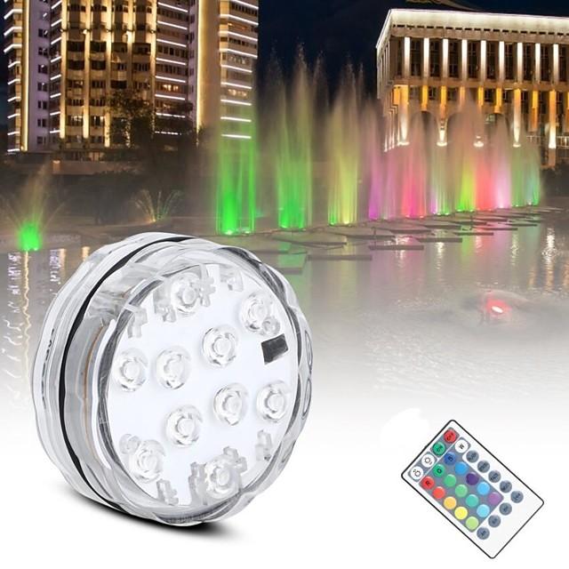 smd5050 rgb lumière de nuit sous-marine étang submersible aaa à piles IP65 lampe de piscine étanche pour l'éclairage de fête de mariage