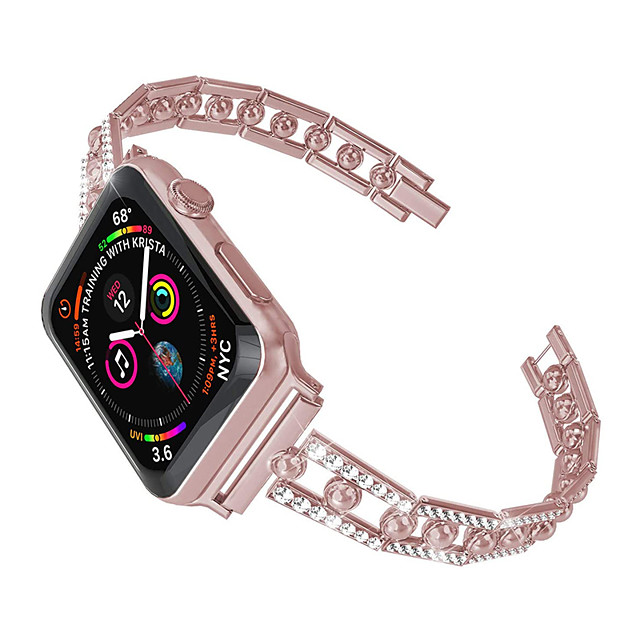 Bracelet de Montre  pour Apple Watch série 5 / Apple Watch Series 4/3/2/1 Apple Boucle Classique Acier Inoxydable Sangle de Poignet