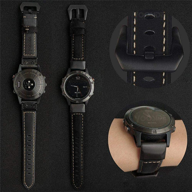 bandă smartwatch pentru garmin fenix 6x / 6 / fenix6s / 6pro / 5s / 5 / 5x / 3 / 3hr buclă de piele benzi sport piele de afaceri benzi de înaltă calitate moda confortabilă sănătate curele de