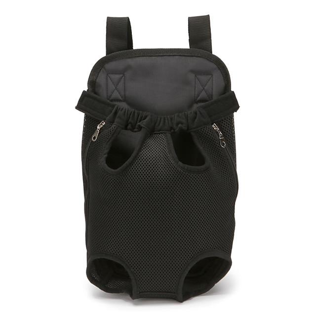 Chat Chien Sac à dos de voyage Carrier Bag Sac à dos avant Portable Respirable Rayure Nylon Coton Couleur camouflage Rayure Léopard