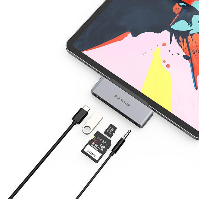 LITBest Haut débit Avec lecteur de carte (s) Fonction de livraison de puissance de support USB-C to USBA 3.0 PD3.0 60W SD/TF Audio3.5mm USB 3.0 de USB C à USB 3.0 USB 3.0 de USB C Audio 3,5 mm carte