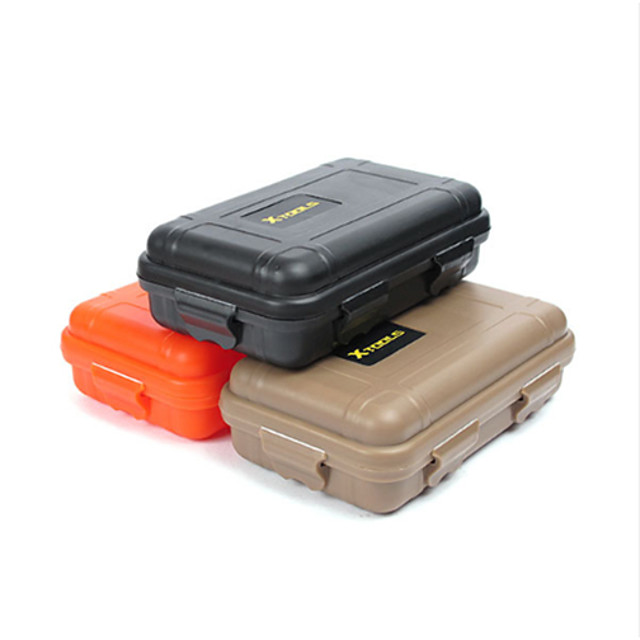 Waterproof Case Waterproof Survival Convenient Nylon Hiking Camping Outdoor Indoor Travel Black Orange Khaki 1 pcs