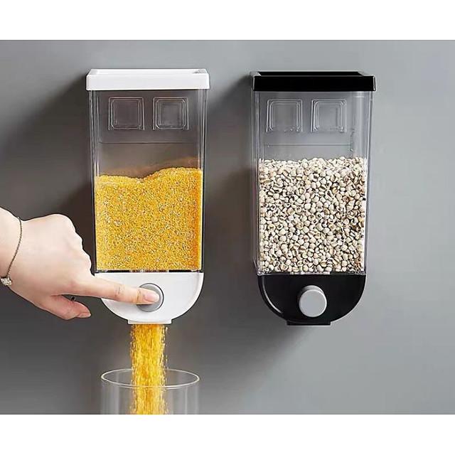 1 buc bucătărie de depozitare cereale plastic 1500 ml rezervor de casă de cereale boabe de orez recipient dozator de ovăz