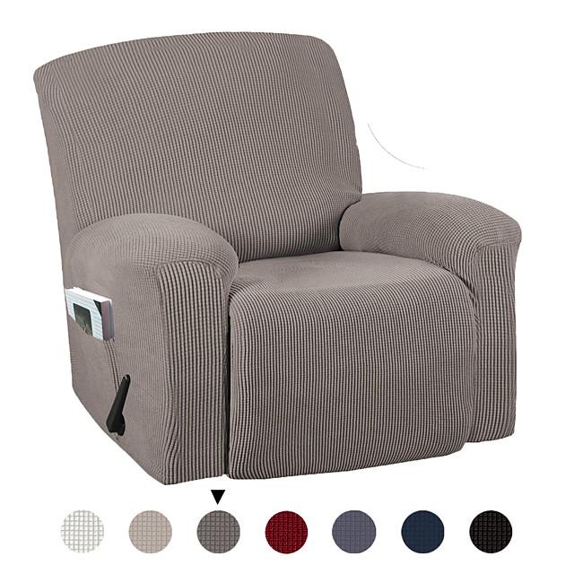Housse de chaise Couleur Pleine Velventine Polyester / Coton Literie