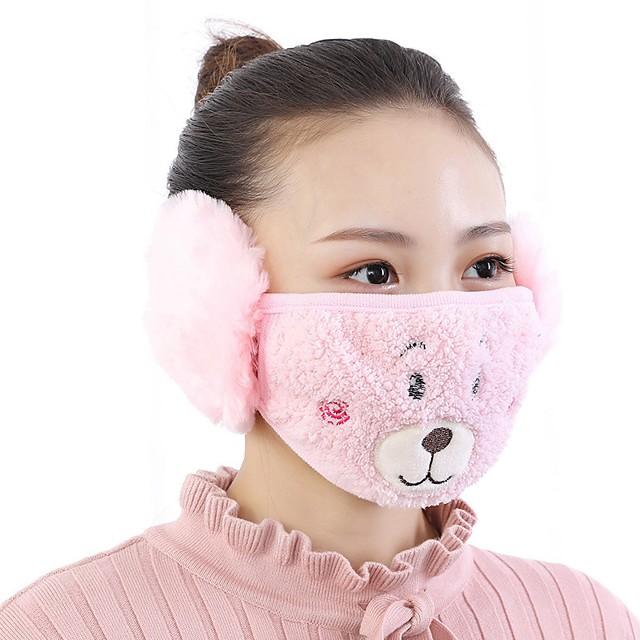 masque animaux mignons modèle polaire anti-poussière hiver adulte thermique des masques de protection respiratoire de la gaze de santé