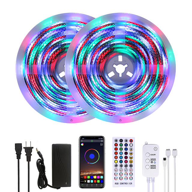 Mashang lumineux 10 m rgbw led bandes lumineuses étanche musique sync smart led tiktok lumières 2340leds 2835 changement de couleur avec 40 touches à distance contrôleur bluetooth pour la maison