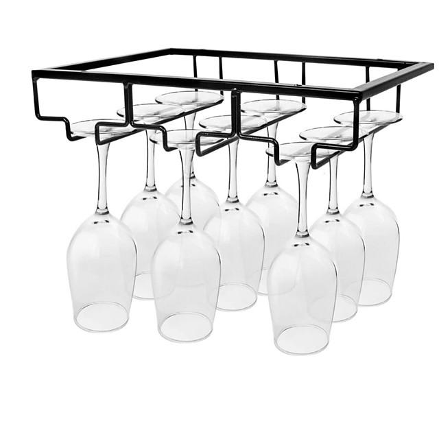 support de verre à vin sous armoire porte-verres en métal organisateur de verre à vin verres cintre de rangement pour bar cuisine maison noir or blanc