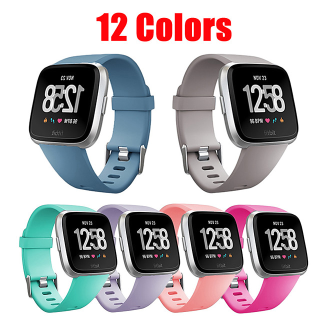 Watch Band for Fitbit Versa / Fitbi Versa Lite / Fitbit Versa2 Fitbit Modern Buckle Silicone Wrist Strap