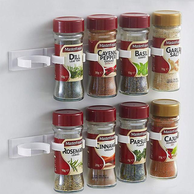 bucătărie sticlă de condimente organizator rack dulap spice clipuri usa de 20 de clip set