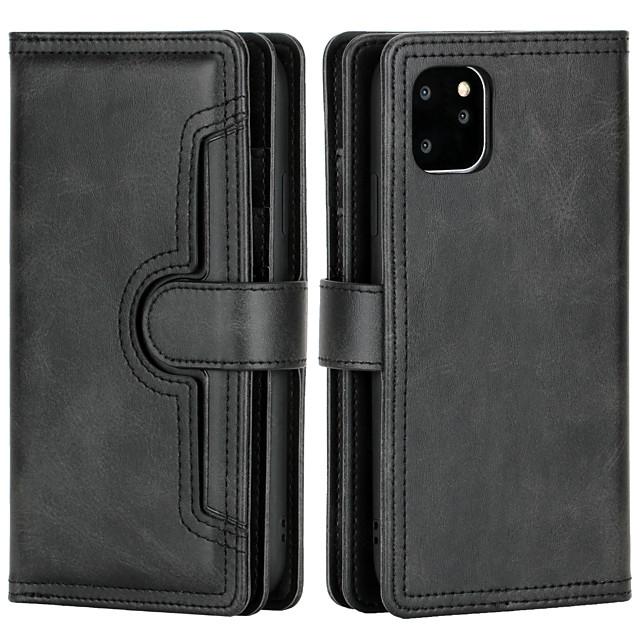 telefono Custodia Per Apple Integrale Custodia in pelle Porta carte di credito iPhone 12 Pro Max 11 SE 2020 X XR XS Max 8 7 6 iPhone 11 Pro Max SE 2020 X XR XS Max 8 7 6 A portafoglio Porta-carte di