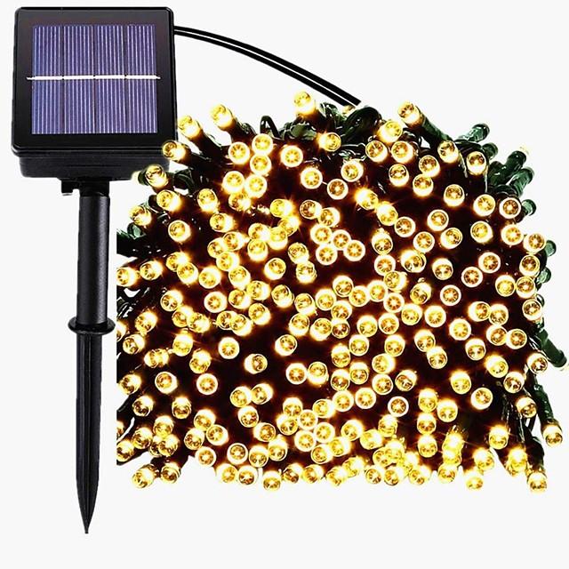 22m 200LED solaire LED guirlande lumineuse extérieure guirlande lumineuse 8 fonctions guirlandes extérieures étanche jardin pelouse cour décoration de noël lumière