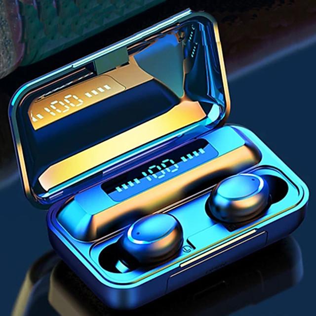 LITBest F9 Auricolari wireless Cuffie TWS Senza filo Stereo Con la scatola di ricarica Rilevazione automatica dell'orecchio per Apple Samsung Huawei Xiaomi MI Sport Fitness
