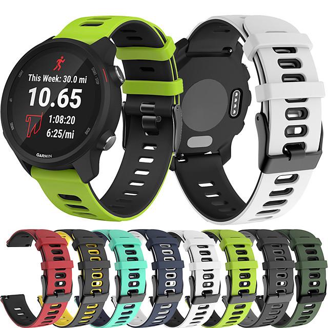 sportovní silikonový náramkový pásek na hodinky pro garmin vivoactive 3 hudbu / vivomove hr / forerunner 245 music / 645 hudba / venu / fenix chronos / vivoactive 4 vyměnitelný náramek na zápěstí