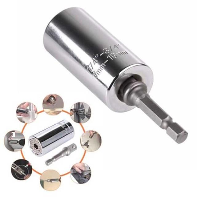 adaptateur de prise gator universel à prise magique avec outil d'adaptateur de perceuse électrique 7-19mm