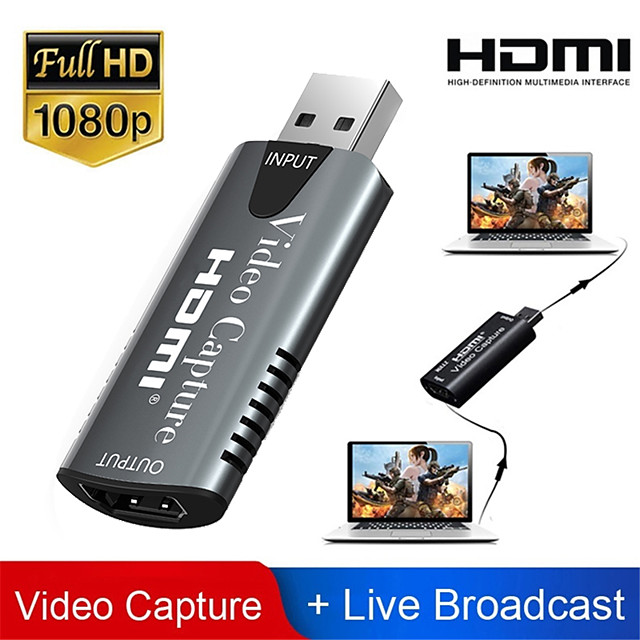 HDMI-Adapter Video-Capture-Karte USB 2.0 DVD-Camcorder HD-Kamera Aufnahme Live-Streaming