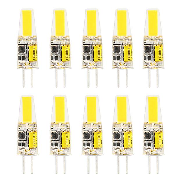 10pcs 6pcs 6 w led gel de silice maïs lumières led bi-broches lumières g4 cob haute puissance led fête créative décoratif lustre en cristal source de lumière ampoules à économie d'énergie blanc chaud