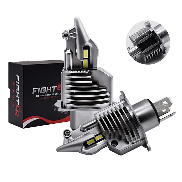 1 Takım Araba Far H4 LED Ampuller Araba / Motosiklet Far 72 W 12 V 24 V 6000 K Süper LED H4 Araba Far Ampulleri Lampada LED H4 8000lm