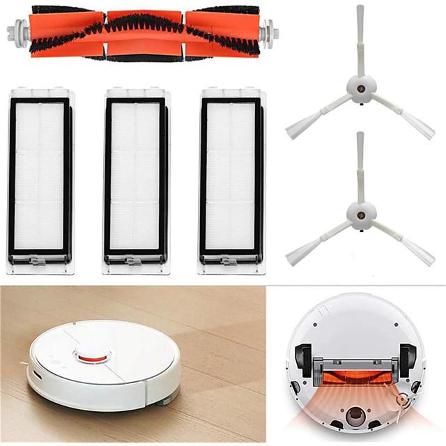 pour xiaomi mi robot aspirateur pièces de rechange accessoires set 1 brosse principale 2 brosses latérales 3 filtres lavables