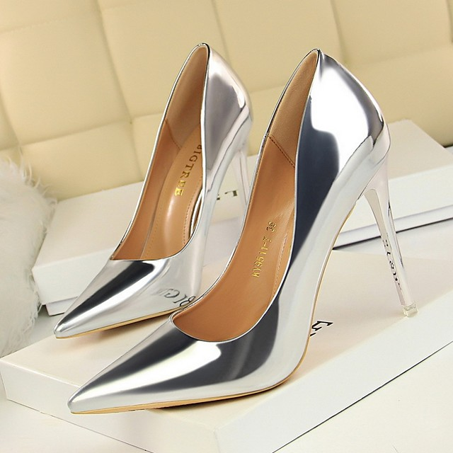 Women's Heels Stiletto Heel Pointed Toe Daily PU Solid Colored Summer Black Champagne Khaki / 3-4