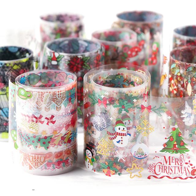 10 pcs Water overdracht sticker Kerstmanpakken / Kerstboom Nagel kunst Manicure pedicure Milieuvriendelijk / Waterbestendig / Duurzaam Stijlvol / Artistiek Kerstmis / Dagelijks