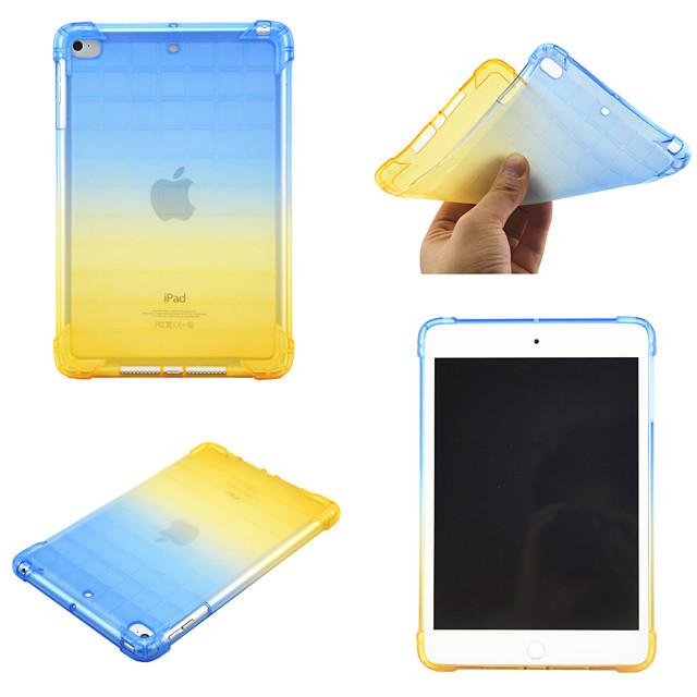 telefono Custodia Per Apple Per retro iPad Mini 3/2/1 iPad Mini 4 iPad Mini 5 Rotazione a 360° Resistente agli urti Colore graduale e sfumato TPU